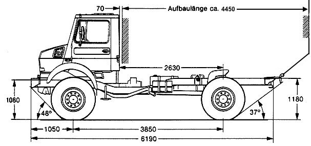Unimog 2150 L38 chasssis Hilfsrahmen