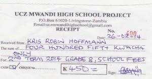 school fees betalingsbewijs - kopie