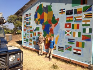 school met landkaart in africa