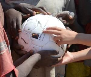 voetballen voor afrika